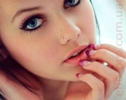Сережка для пірсингу носа циркон